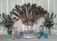 Pavo real de caramelos para una boda Iraní Española
