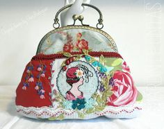 Bolsos de mano - Bolso My fair Lady-Crazy quilt y bordado - hecho a mano por gloria-60 en DaWanda