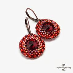 www.polandhandmade.pl #polandhandmade , ‪#‎beading‬ , ‪#earrings