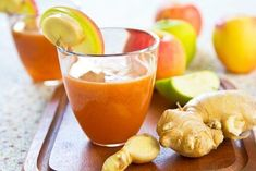 Healthy Recipe BEST Carrot Juice With Lime Ginger - Healthy Recipes Watch Daily Healthy Recipes video on healthy smoothie recipes, healthy food recipes, ea Detox Juice Recipes, Juice Cleanse, Smoothie Recipes, Benefits Of Fresh Ginger, Sumo Detox, Sumo Natural, Healthy Drinks, Healthy Recipes, Healthy Foods