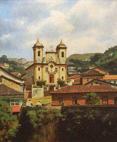 """Pinturas de Minas Gerais   """"Ouro Preto"""" de Rubens Vargas"""