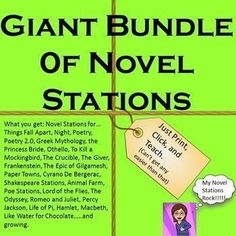 You get: poetry Poetry Stations 2.0 Things Fall Apart Greek Mythology The Princess Bride Othello To Kill a Mockingbird The Crucible The Giver Cyrano De Bergerac Shakespeare Animal Farm Poe Lord of the Flies The Odyssey Romeo and Juliet Percy Jackson Life