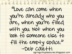 Quote of the Day: Be You for Love | A Girl's Guilty Pleasures