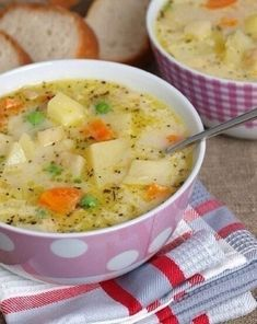Milk soup with vegetables (Diet foods) Cookbook Recipes, Soup Recipes, Diet Recipes, Healthy Recipes, Fish Dishes, Seafood Dishes, Tasty Dishes, Protein Shake Diet, Russian Recipes