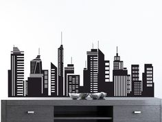 City Skyline Decals!  Any Size Any color! Message me for custom designs and samples! ryan@clearinkmedia.com  www.metta4.com