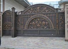 34 ideas main door ideas design wrought iron for 2019 Steel Gate Design, Front Gate Design, Main Gate Design, House Gate Design, Door Gate Design, Fence Design, Metal Gates, Wrought Iron Gates, Front Gates
