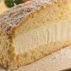Copy cat recipe of Olive Garden's Lemon Cream Cake. Copy cat recipe of Olive Garden's Lemon Cream Cake. Lemon Desserts, Lemon Recipes, Just Desserts, Delicious Desserts, Ricotta Cheese Desserts, 4th Of July Desserts, Italian Desserts, Health Desserts, Cream Recipes
