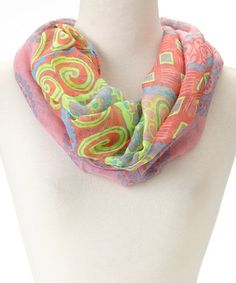Another great find on #zulily! Peach Drawings Infinity Scarf by Love, Kuza #zulilyfinds