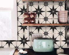 Bristol Kitchen Bathroom Backsplash Tile Wall Stair Floor | Etsy Peel And Stick Tile, Stick On Tiles, Vinyl Wallpaper, Wallpaper Roll, Tile Decals, Wall Tiles, Cement Tiles, Wall Decal, Vinyl Decals