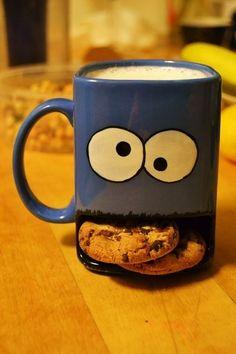 Cookie monster mug/cookie holder. Flawless. kristen19xoxo