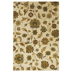 Mohawk Home Blackbourne Sand Storm 96-in x 120-in Rectangular Cream/Beige/Almond Floral Area Rug