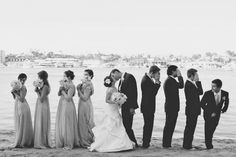 Perfecta escena en blanco y negro...