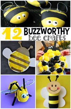 Buzzworthy Bee Crafts for Kids to Make! These are great for spring or summer time art projects. | CraftyMorning.com