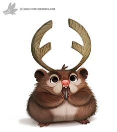 ArtStation - Daily Painting 901# Hamsterlope, Piper Thibodeau ★ Find more at http://www.pinterest.com/competing/