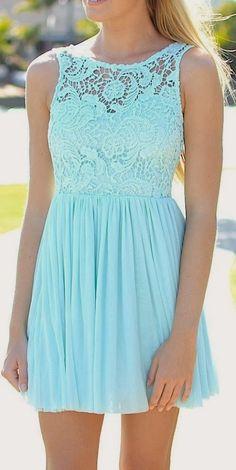 Lovely crochet detail mini dress fashion