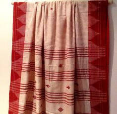 Handwoven Organic Cotton Tribal Kotpad by TheFarEastArtStudio