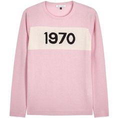 Bella Freud 1970 intarsia pink cashmere jumper (6.291.770 IDR) ❤ liked on Polyvore featuring tops, sweaters, bella freud, cashmere jumpers, intarsia sweater, cashmere tops and jumpers sweaters