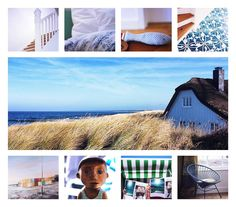 Thatched cutie just behind the dunes - an artsy house of canvas whites & nautical blues. DER CHARLOTTENHOF AHRENSHOOP