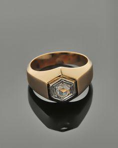 Δαχτυλίδι ροζ χρυσό Κ18 με Διαμάντι Class Ring, Rings, Jewelry, Jewlery, Jewerly, Ring, Schmuck, Jewelry Rings, Jewels