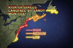 Sandy to Take Aim at New England, Mid-Atlantic