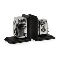 Home Depot has vintage looking camera bookends. Who knew?!  :)
