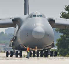 The seventh has been inducted into the modernization program at the Lockheed Martin facility in Marietta. Military Jets, Military Aircraft, Air Fighter, Fighter Jets, C 5 Galaxy, Plane Photos, Cargo Aircraft, Aircraft Pictures, Fighter Aircraft