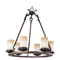 Maxim 10975WSOI Notre Dame-Single-Tier Chandelier in Oil Rubbed Bronze -- In the Dining Room
