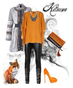 """""""Kitsune"""" by fairywitch ❤ liked on Polyvore featuring Matthew Williamson, Intimissimi, Casadei, Maurizio Pecoraro, BuDhaGirl, women's clothing, women, female, woman and misses"""