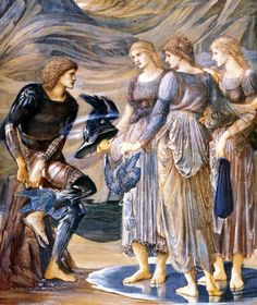 Perseus and the Sea Nymphs, by Edward Burne Jones (1877)