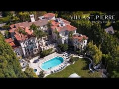 Villa St. Pierre | $46,000,000 Holmby Hills Trophy Compound Los Angeles Neighborhoods, Los Angeles Homes, Entry Foyer, Maine House, Beverly Hills, The Neighbourhood, Angels, Villa, 1