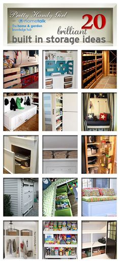 Need More Space in Your Home- Without Cost ? DIY:: #20 Low Budget brilliant built-in storage ideas! Tutorials For Each!