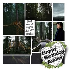 """""""HAPPY BIRTHDAY ADDIE"""" by forebodinq ❤ liked on Polyvore featuring art"""