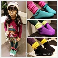 2015 Baby Kids Socks Hot Sell Cute Candy Color Patchwork Color Frilled Long Socks Children Kid Knitting Toddler Sweet Socks Online with $1.38/Piece on Smartmart's Store | DHgate.com