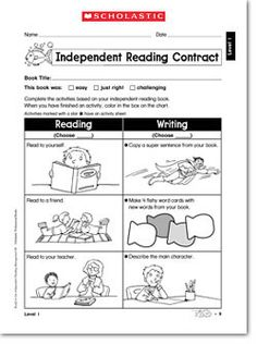 Graphic Sources Activities | Download and print Independent Reading Contract (PDF)