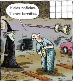 Check he funniest Halloween memes and funny Halloween comics with jokes you may try to sending to your loved ones and say Happy Halloween events in a new style. Halloween Meme, Halloween Cartoons, Halloween Quotes, Happy Halloween, Witch Jokes, Speed Bump Comic, Spanish Jokes, Spanish Class, Humor Grafico