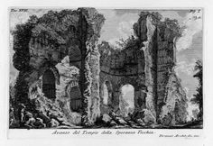 Architect's fascination with ruins...  Piranesi's etching of the Temple of Venere and Cupido in Rome. Image Courtesy of Wikimedia Commons