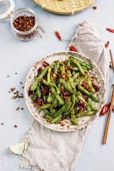 Szechuan dry-fried green beans quick version  chinasichuanfood.com