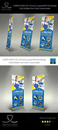 Cleaning Services Signage Banner #Roll Up Template Vol.4 - #Signage Print Templates Download here:  https://graphicriver.net/item/cleaning-services-signage-banner-roll-up-template-vol4/20173752?ref=alena994
