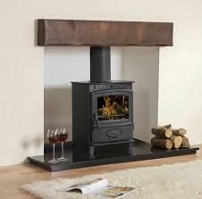 Image result for wood beam fireplace