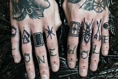 Pin On Hand Tattoos Knuckle Tattoos Top 101 Best Knuckle Tattoos Ideas 2020 Inspiration Guid. Finger Tattoos Words, Hand And Finger Tattoos, Finger Tattoo For Women, Hand Tats, Hand Tattoos For Guys, Finger Tats, Dope Tattoos, Badass Tattoos, Trendy Tattoos