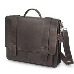 Elegante, klassische Harolds-Aktentasche, Modell 294035 aus hochwertigem Leder in Dunkel-Braun. 209,00 €