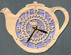 clock teapots   Teapot Clock Project Pattern