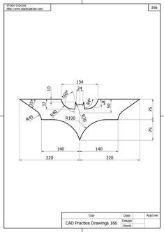 The dark knight trilogy logo autocad exam level i autocad level Mechanical Engineering Design, Mechanical Design, Inkscape Tutorials, Isometric Drawing, Interesting Drawings, The Dark Knight Trilogy, Cnc Projects, Logo Design, Graphic Design
