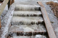 For icy steps and sidewalks in freezing temperatures, mix 1 teaspoon of Dawn dish washing liquid, 1 tablespoon of rubbing alcohol, and 1/2 gallon hot/warm water and pour over walkways. They won't refreeze. No more salt eating at the concrete in your sidewalks