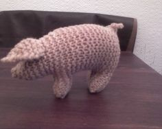 Waldorfinspired knitted piggy by woolnwood on Etsy, $23.00