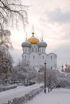 Snowy Novodevichi, Russia