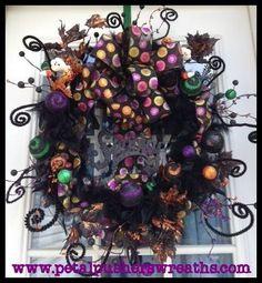 Neat halloween wreath