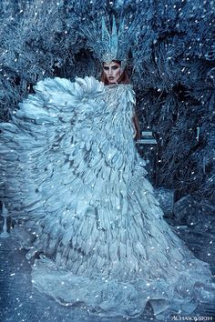 Foto Fantasy, Fantasy Kunst, Images Lindas, Ice Queen Costume, Fantasy Gowns, Fantasy Hair, Fantasy Makeup, Snow Maiden, Snow Fairy