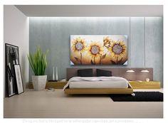 Framed Wall Art Handmade Sunflower Very Large Canvas Oil Paint 1pcs #ArtDeco