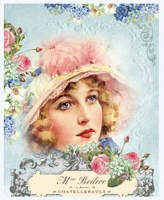 Items similar to Transfer, elegant: ladies of the belle epoque on Etsy Decoupage Vintage, Éphémères Vintage, Decoupage Paper, Vintage Ephemera, Vintage Cards, Vintage Paper, Vintage Flowers, Vintage Postcards, Vintage Prints
